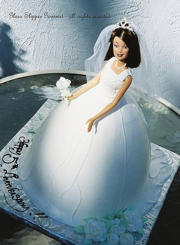 bridal barbie cake by Glass Slipper Gourmet, via Flickr
