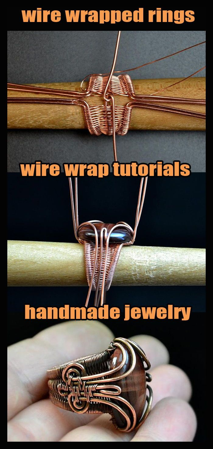 Photo of Wire wrap Jewelry tutorial. Wire wrapped rings.