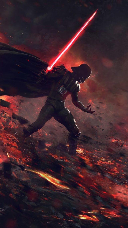 Ahsoka Tano Vs Darth Vader Image Wallpaper 1080x1920 In 2020 Dark Side Star Wars Star Wars Pictures Star Wars Background