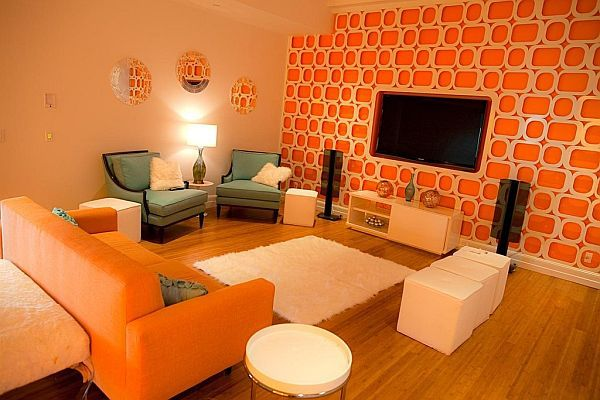 Rooms Painted Orange 25 amazing orange interior designs | interiors, orange wallpaper