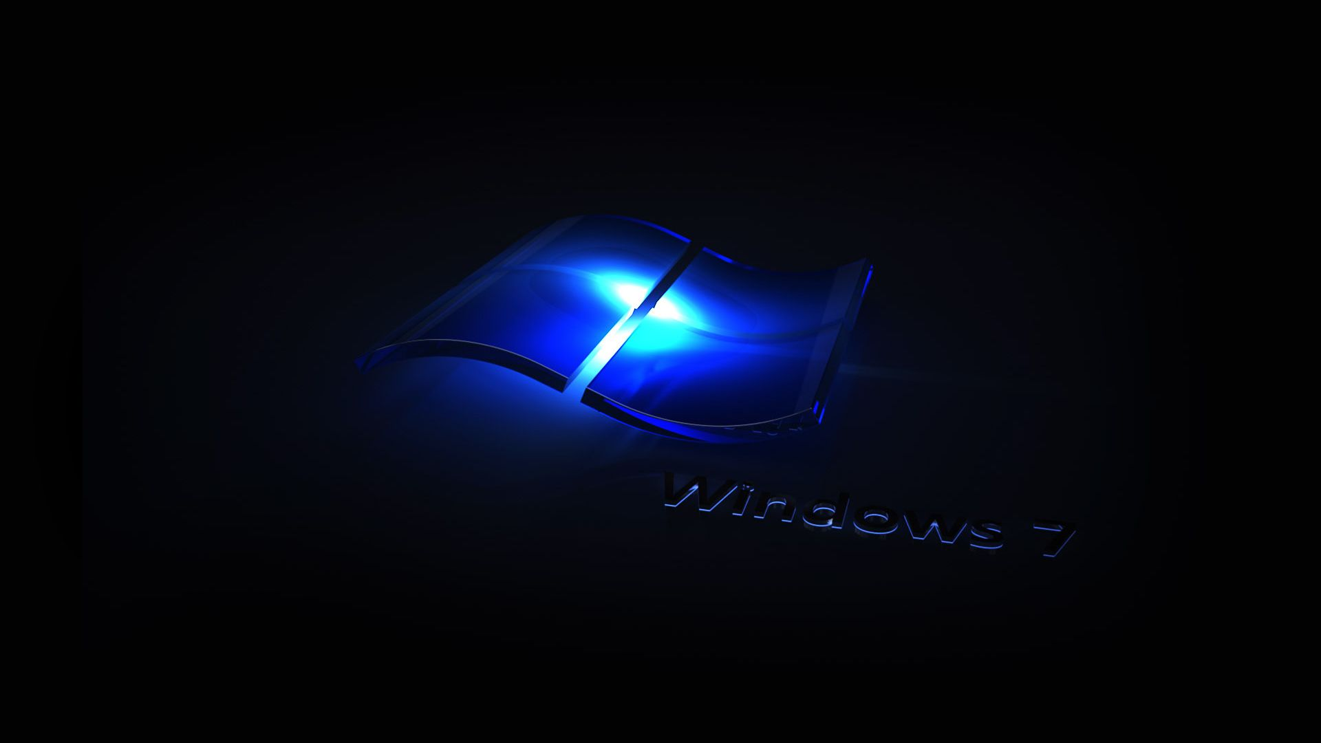 Blue Light Windows 7 Wallpaper Windows Wallpaper Windows Desktop Wallpaper Dark Wallpaper