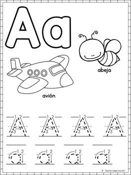 Spanish Alphabet Worksheets- Alfabeto | Alphabet worksheets ...