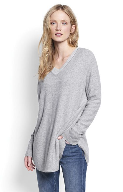 Beautiful lines and luxurious cashmere converge in this elegant ...