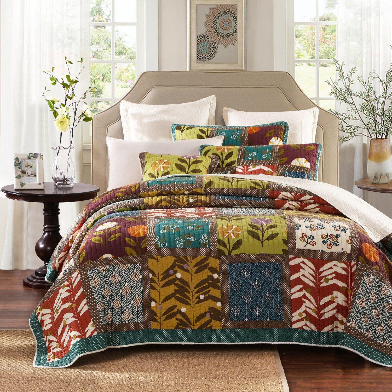 Bohemian style comforter and bedding set