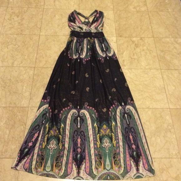 Halter Maxi Dress Gorg Maxi Dress The Fabric Is Beautiful