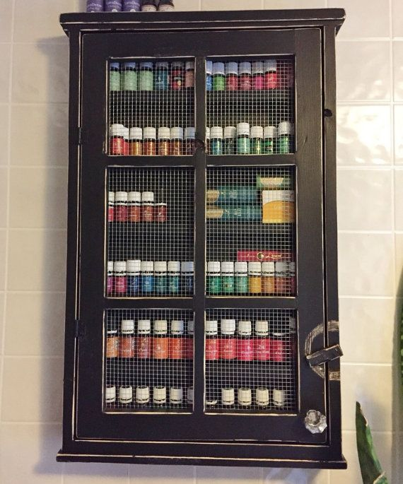 Essential Oil Storage With Mesh Nail Polish Cabinet