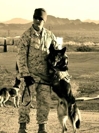 Sgt Hallmark And Mwd Miky N578 Yuma Proving Ground Photo K 9