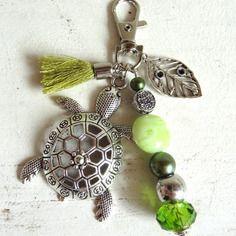 "Bijou de sac, grigri, lili et ma* créations ""tortue porte…"