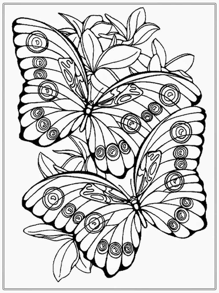 Adult color pages adult coloring pages butterfly realistic coloring pages