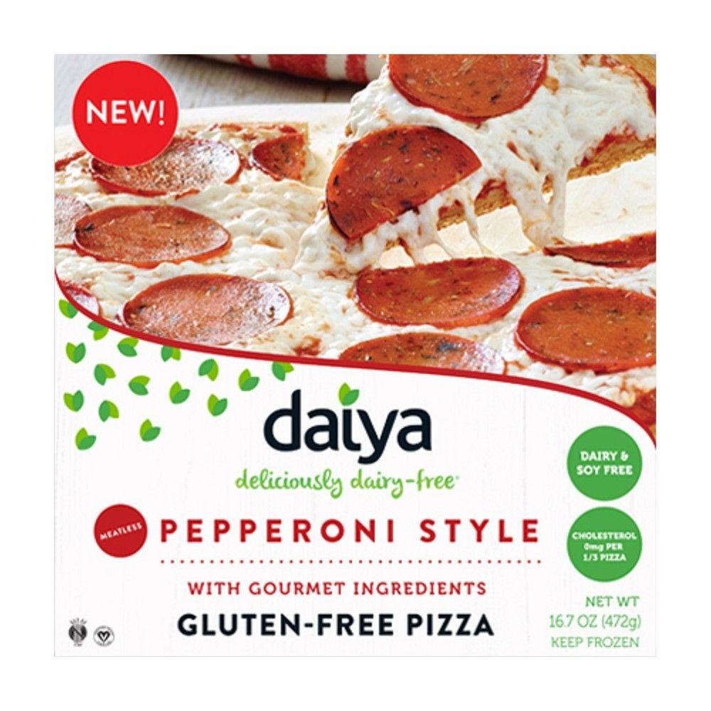 Daiya dairyfree meatless pepperoni frozen pizza 167oz
