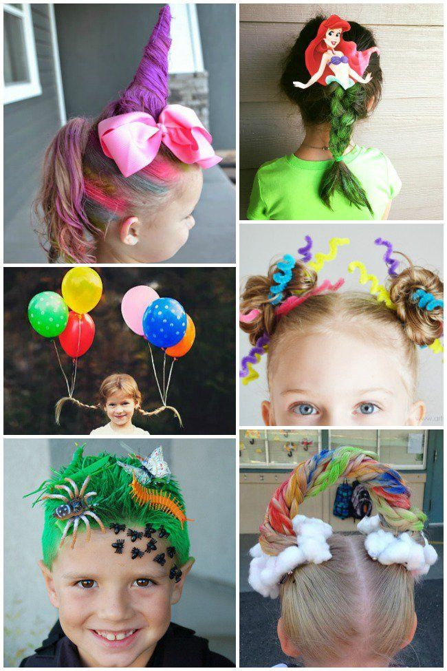 Crazy Hair Day Ideas For School Kiddos Crazy Hair Crazy