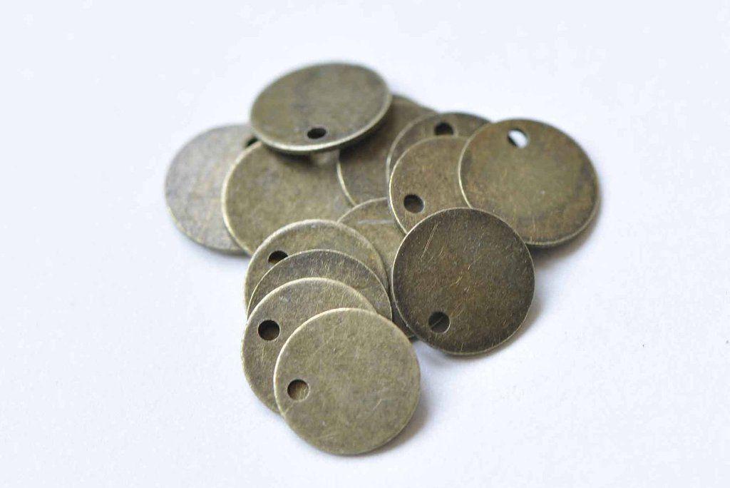 UK seller metal hand stamping blanks Disc 16mm 16mm stainless steel x 5