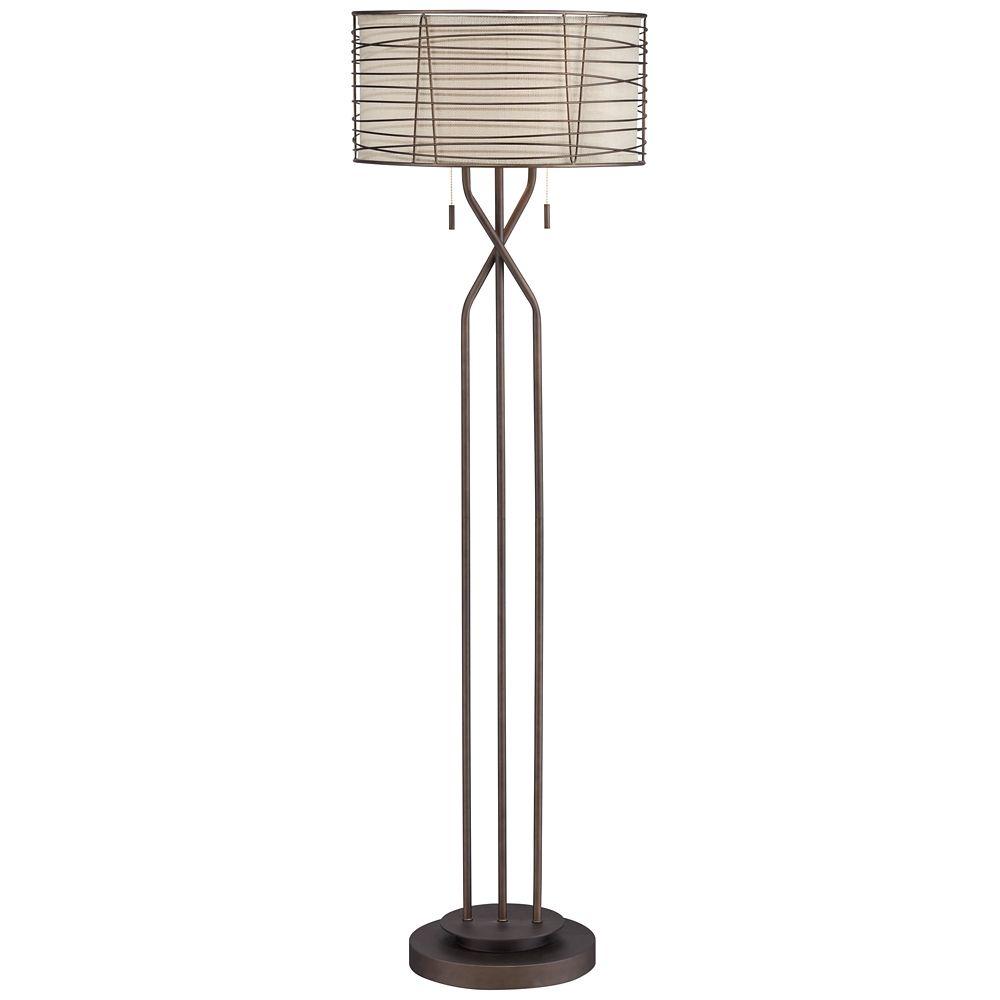 Marlowe Bronze Woven Metal Floor Lamp By Franklin Iron Works 4g489 Lamps Plus Floor Lamp