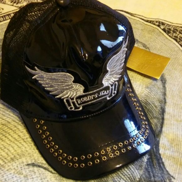 ROBBINS JEANS NEW STYLE HAT Black and gold studs, hat , new with tags ROBBINS JEANS Accessories Hats
