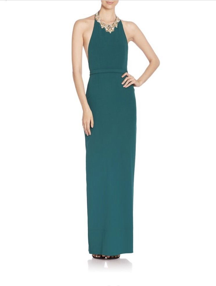 Marchesa Notte Woman Embellished Crepe Gown Forest Green Size 10 Marchesa 9aybWt