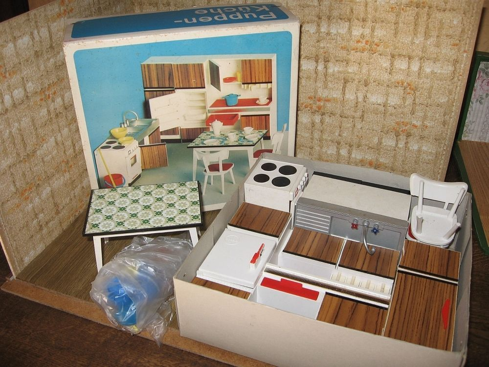 Küchenmöbel Modella O Karton Puppenmöbel Puppenhaus Puppenstube Puppenküche