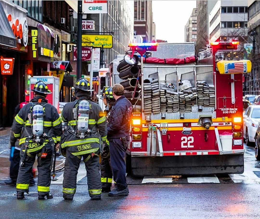 a21a1daacc5 FDNY Firefighters from Engine 22 seen here standing by at a run on the  upper east side of Manhattan.