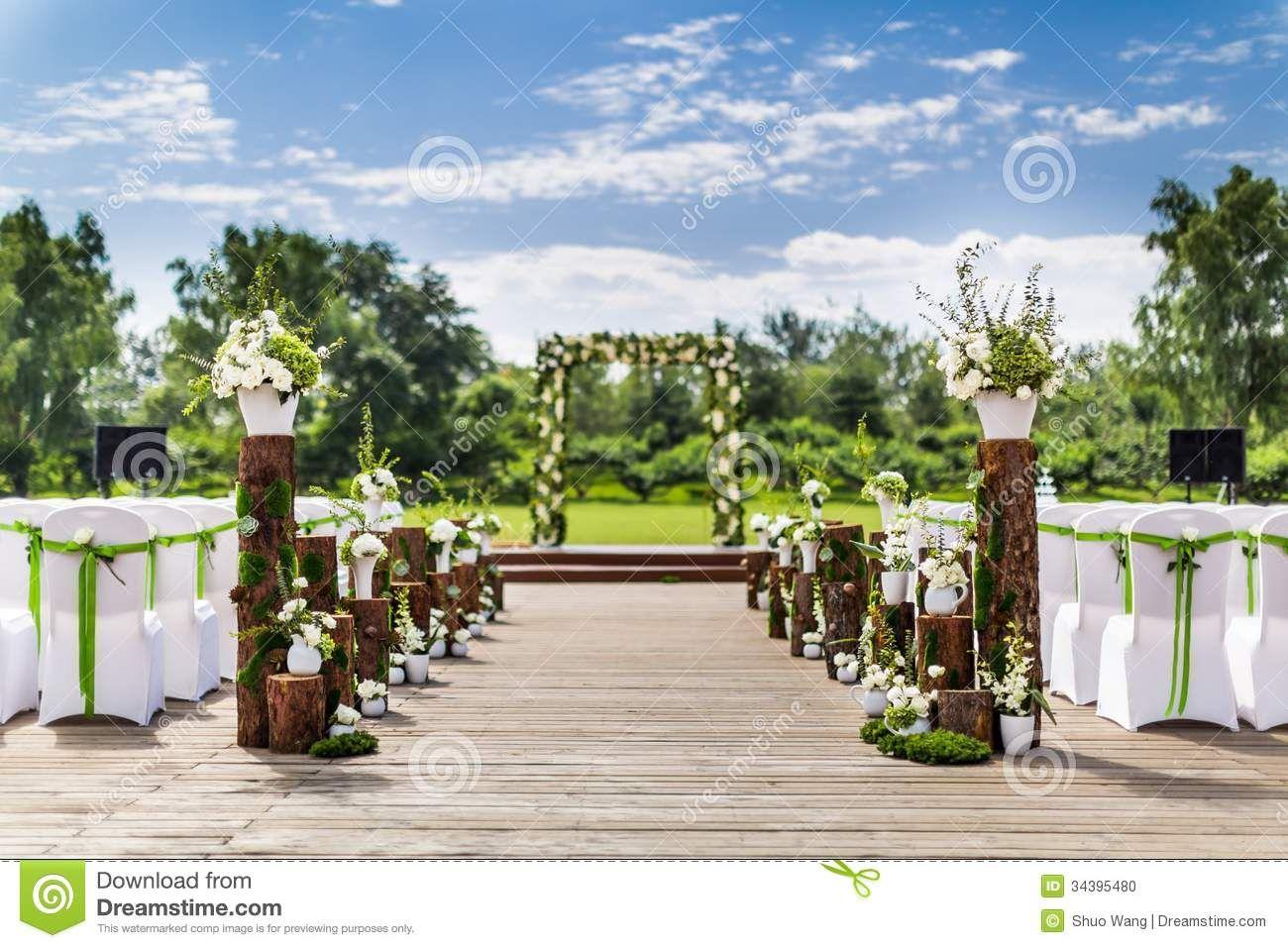 wedding scenes   Stock Photo: Outdoor wedding Scene