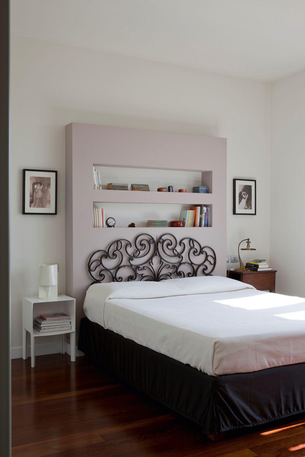 Parete testata letto decorazioni parete camera da letto - Testata letto cartongesso ...