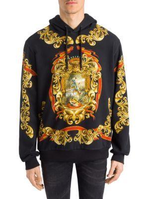 6c519987df4d DOLCE & GABBANA Heraldic Print Hoodie. #dolcegabbana #cloth #hoodie ...