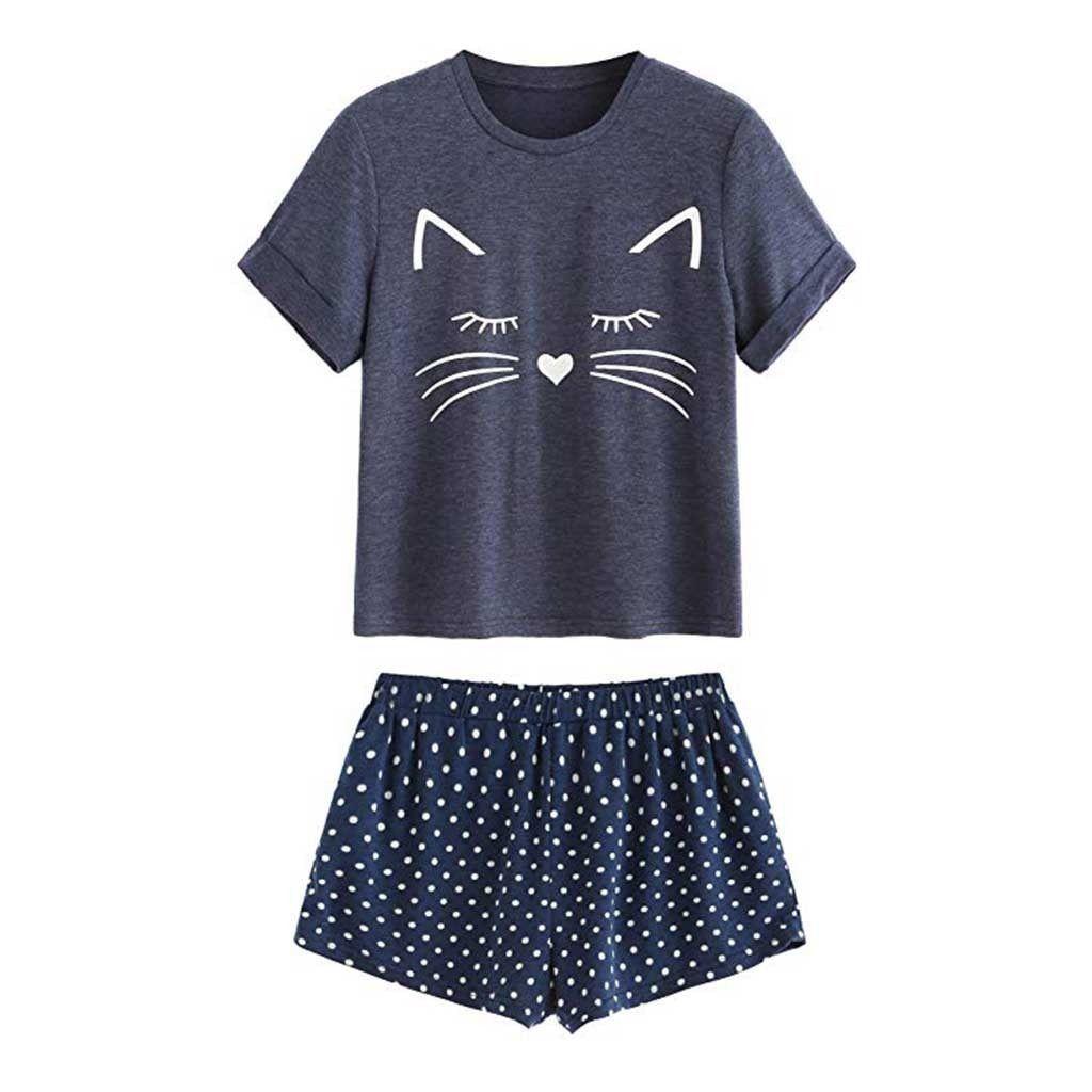 cat pajama shorts