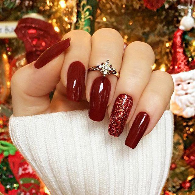 Photo of Red for Christmas ❤ (of course ) #unhasdasemana #christmasnails #unhas #christ…