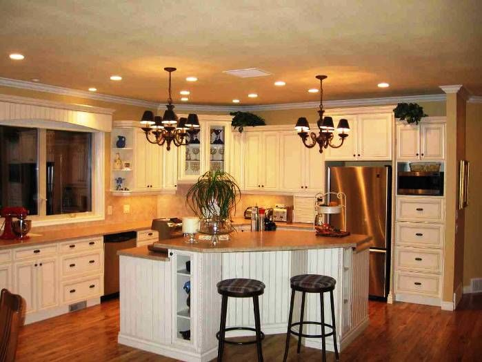 antique contemporary white kitchen interior decorating and lighting