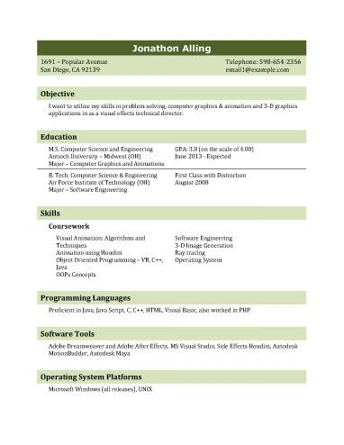 Resume Template For It Graduate  Resume Templates And Samples