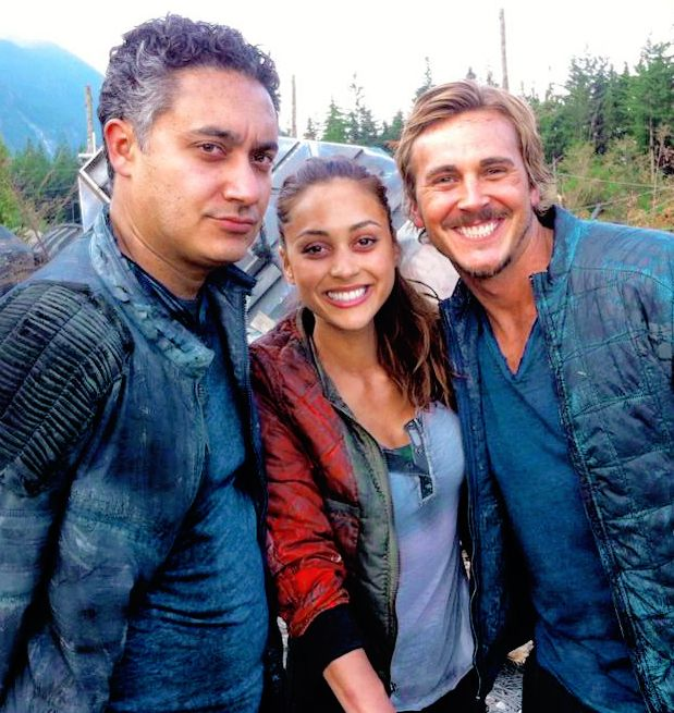 Kyle Wick The 100.The 100 Cast Behind The Scenes Raven Reyes Kyle Wick And