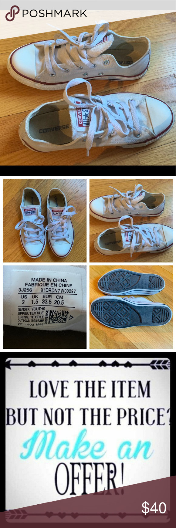 Converse Youth size 2 in EUC! These Converse are in like new d4fec5758