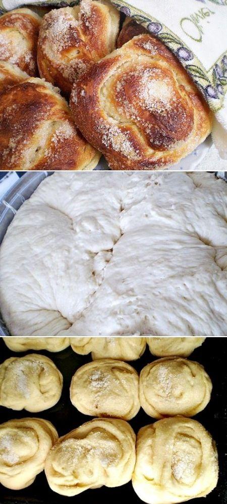 Пышные сахарные булочки | Идеи для блюд, Еда и напитки ...