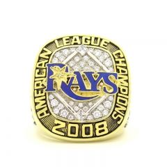 2008 Tampa Bay Rays American League Championship Ring American League Tampa Bay Rays Championship Rings