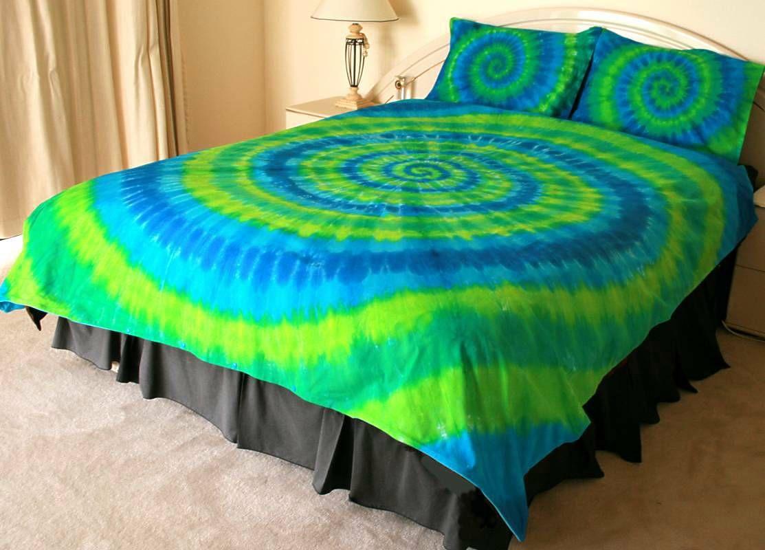 tie dye bedspread Google Search Tie dye bedding, Blue
