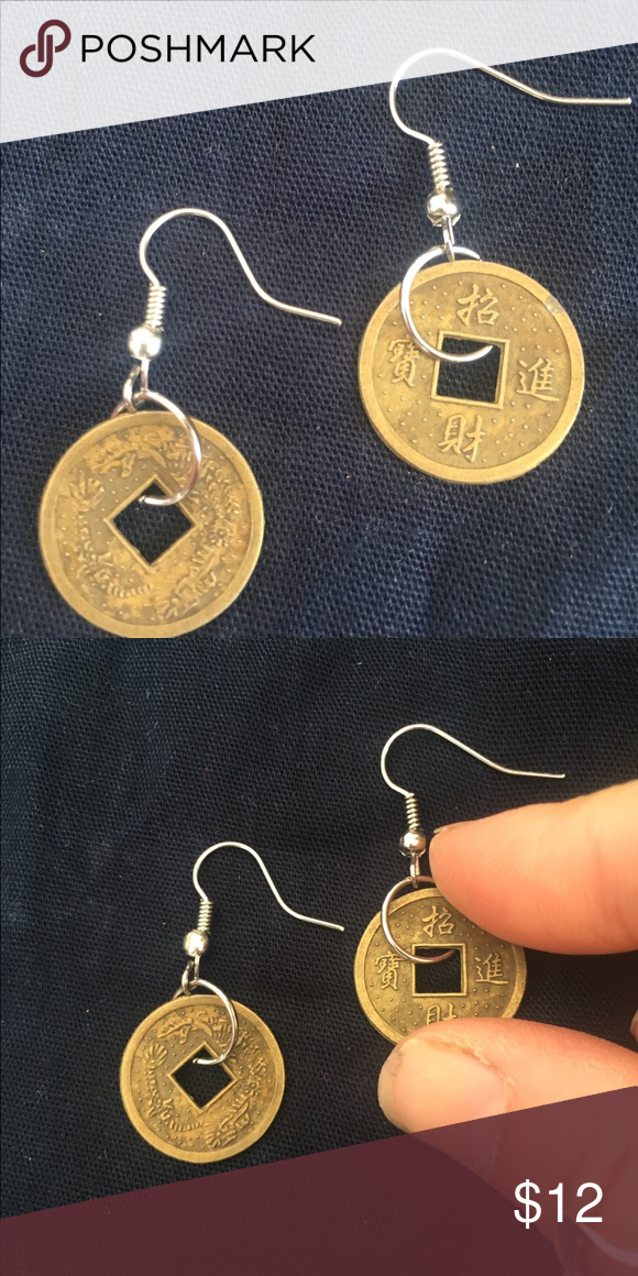 ae0535881 The mini coin charm good luck earrings Handmade in bali on lightweight  brass gorgeous coin looking earrings. Perfect for boho looks! handmade  Jewelry ...