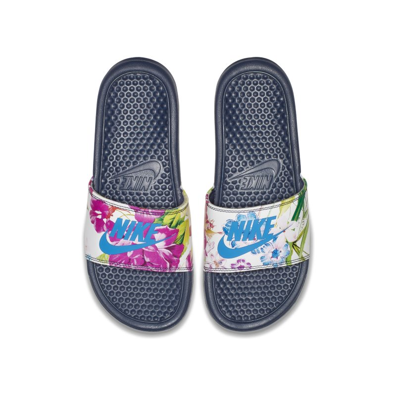 6f8340498408 Nike Benassi JDI Floral Women s Slide - Blue