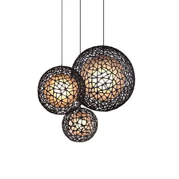 c u c me round hanging lamp medium by kenneth cobonpue for hive. Black Bedroom Furniture Sets. Home Design Ideas