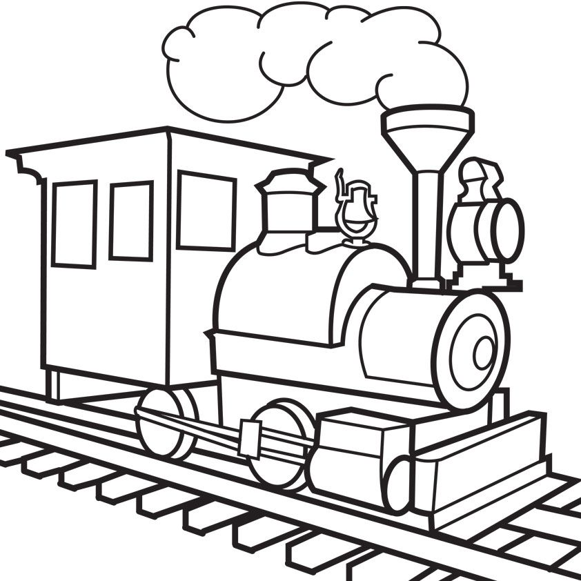 Train Station Clipart Train Coloring Pages