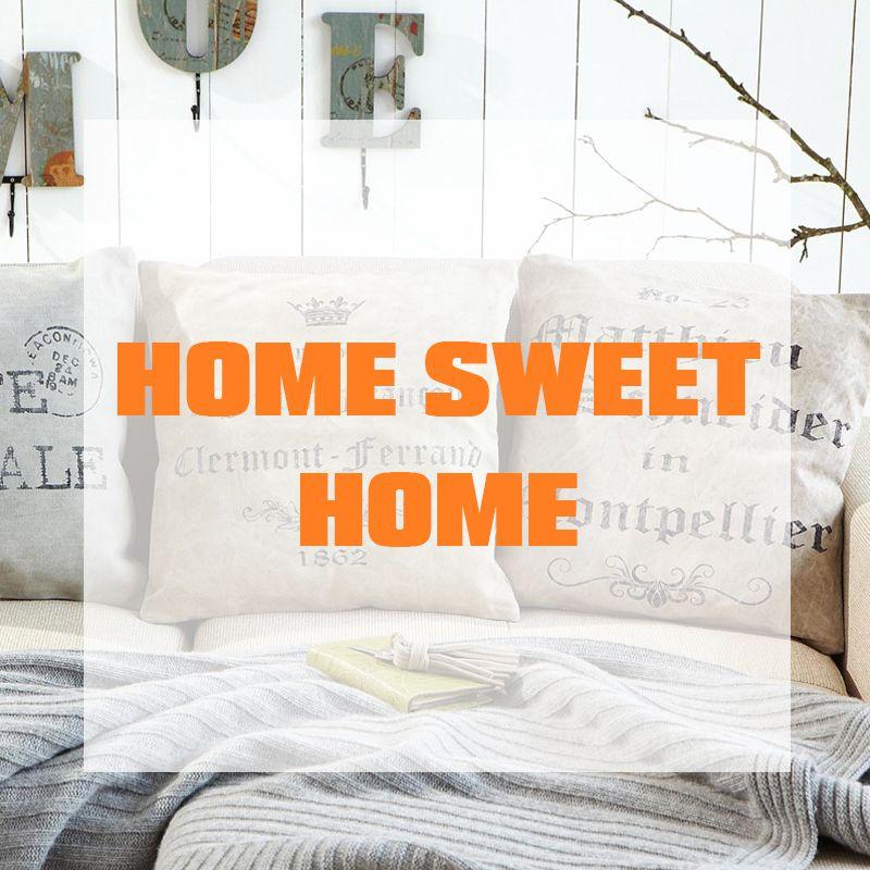 Home Sweet Home by OBI Für mehr Ideen, wie du dein Zuhause gestalten - Wohnzimmer Grau Orange