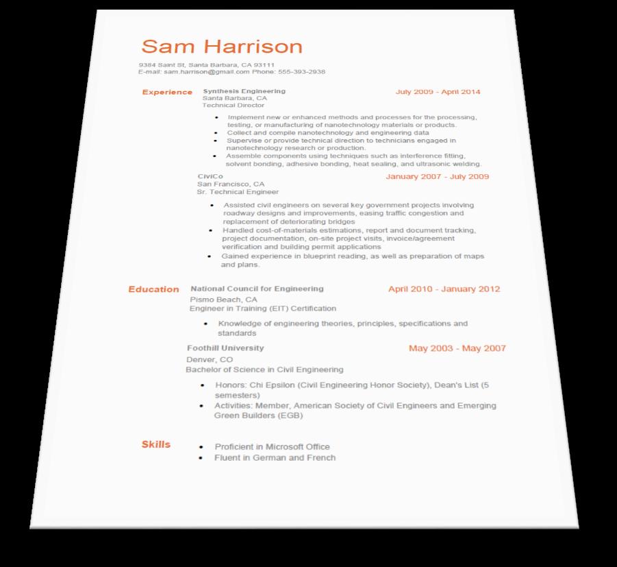 SmartResumeWizard Free Resume Builder Free resume