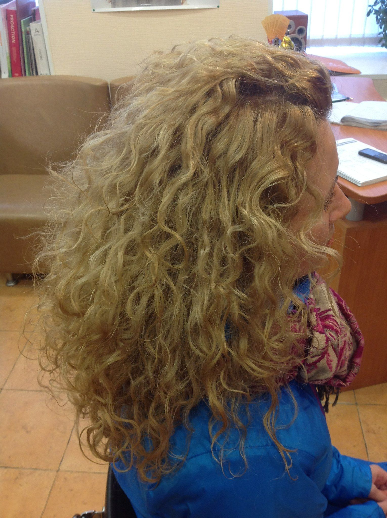 loose, more natural looking long perm style | Hair and ...