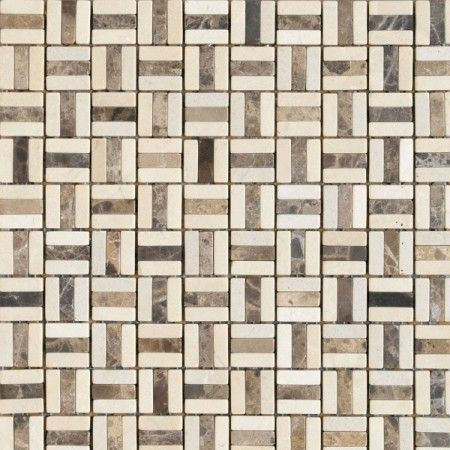 Rock Art 12x12 Marron Trajano Mosaic Roca Us Ceramic
