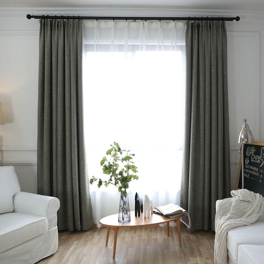 Moderner Vorhang Minimalismus Unifarbe Im Schlafzimmer In 2020