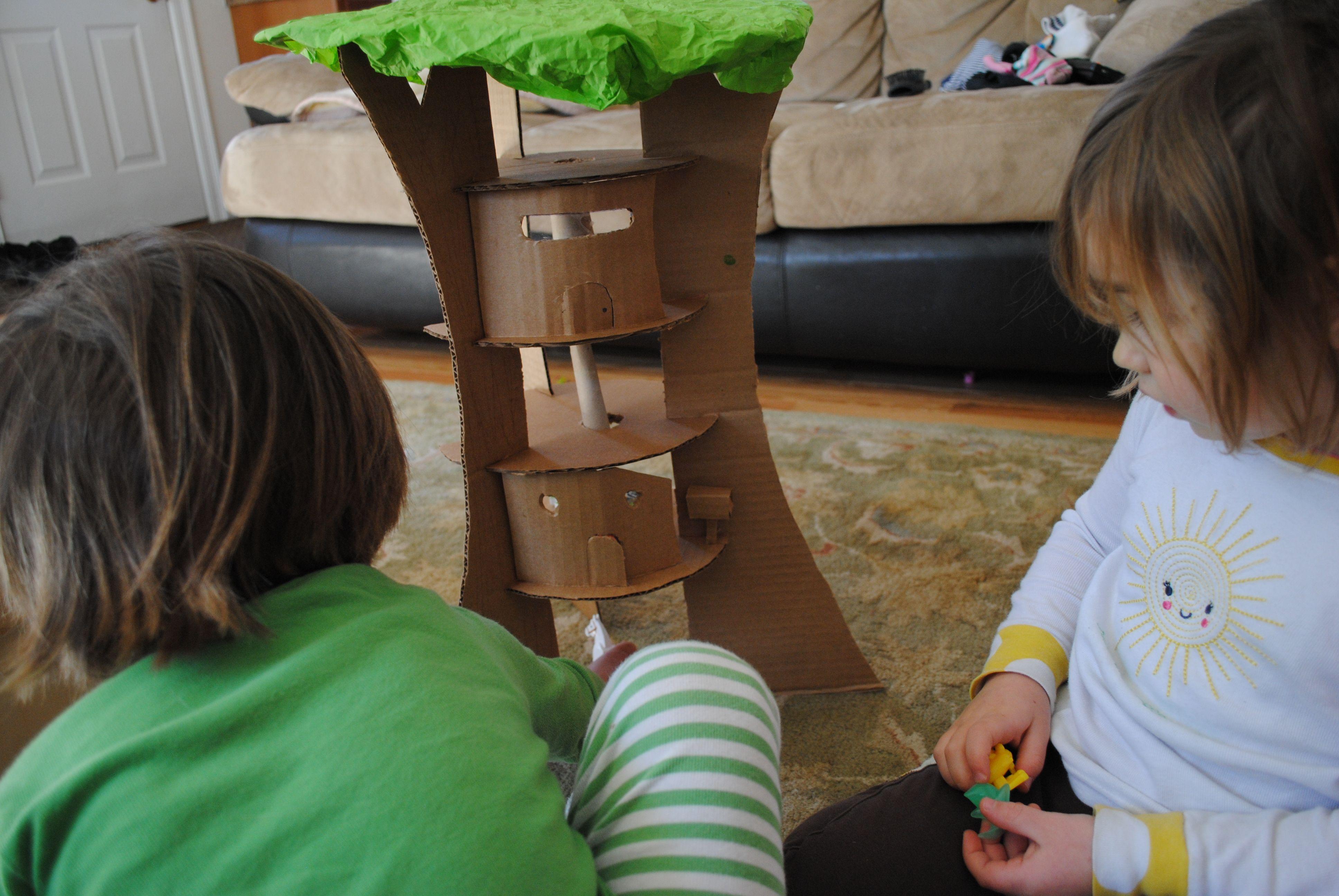 Cardboard tree house  3.2012
