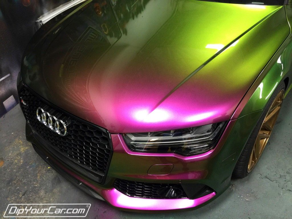 Paint your car in a garage in 1 hour dip your car youtube - Hypershift Pearl Peel Able Paint On Audi Multi Shades