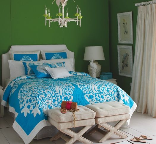 Bed Cover From Lilly Pulitzer Home. Flashy Bright Colour