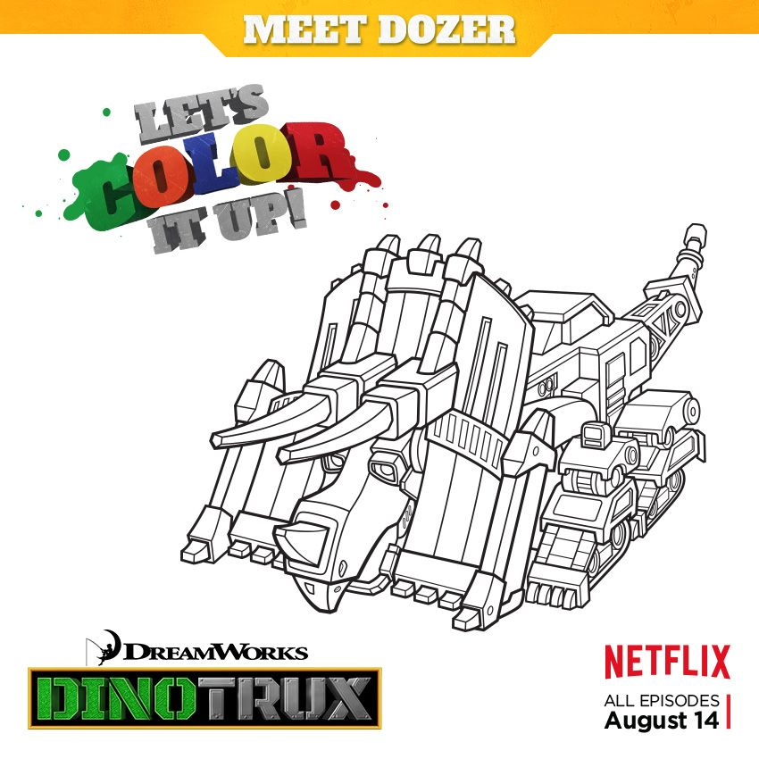 Color it up! Download, print, and color Dozer from DreamWorks ...