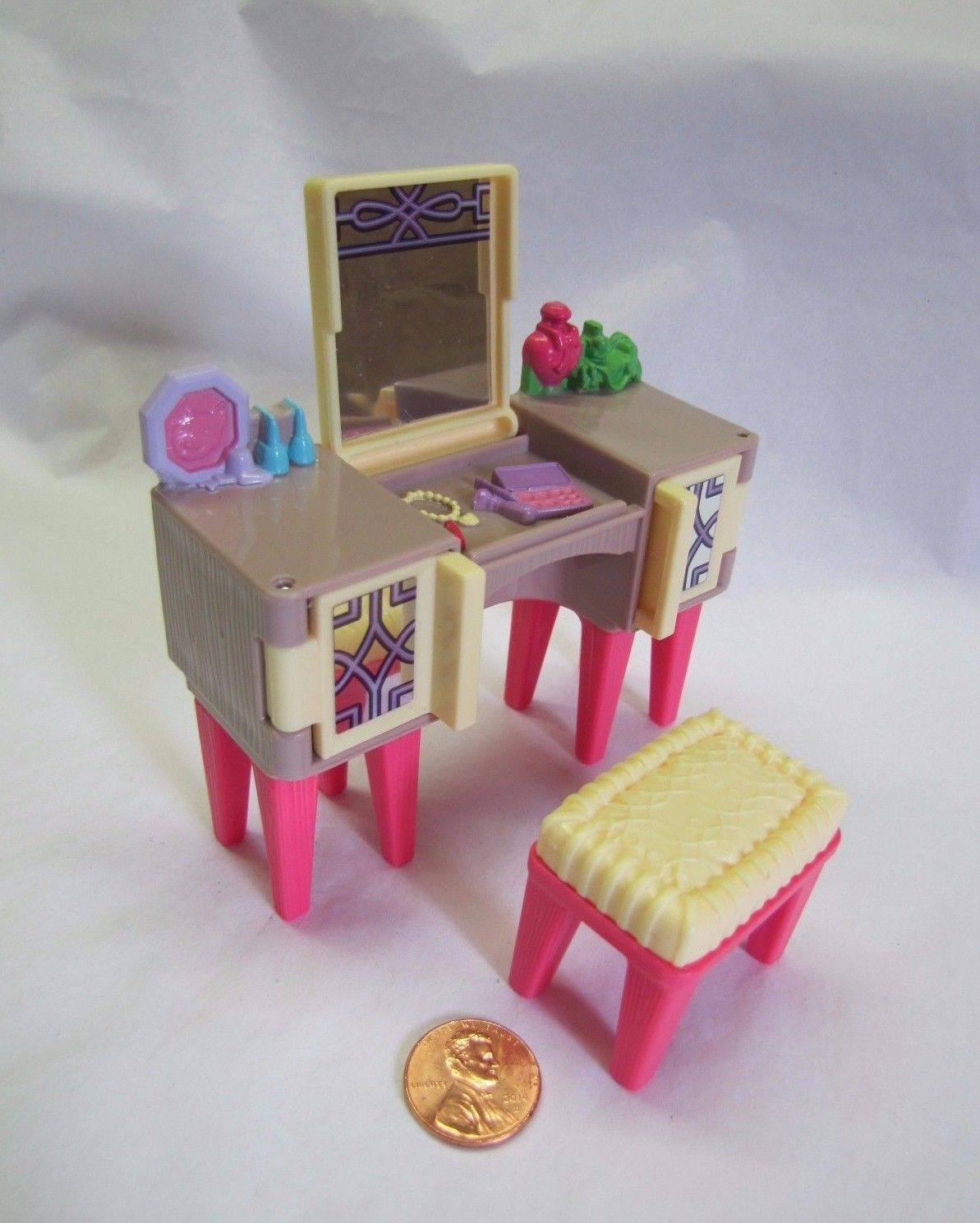 Fisher price doll house furniture - New Fisher Price Loving Family Dollhouse Parents Mirrored Bedroom Vanity Stool