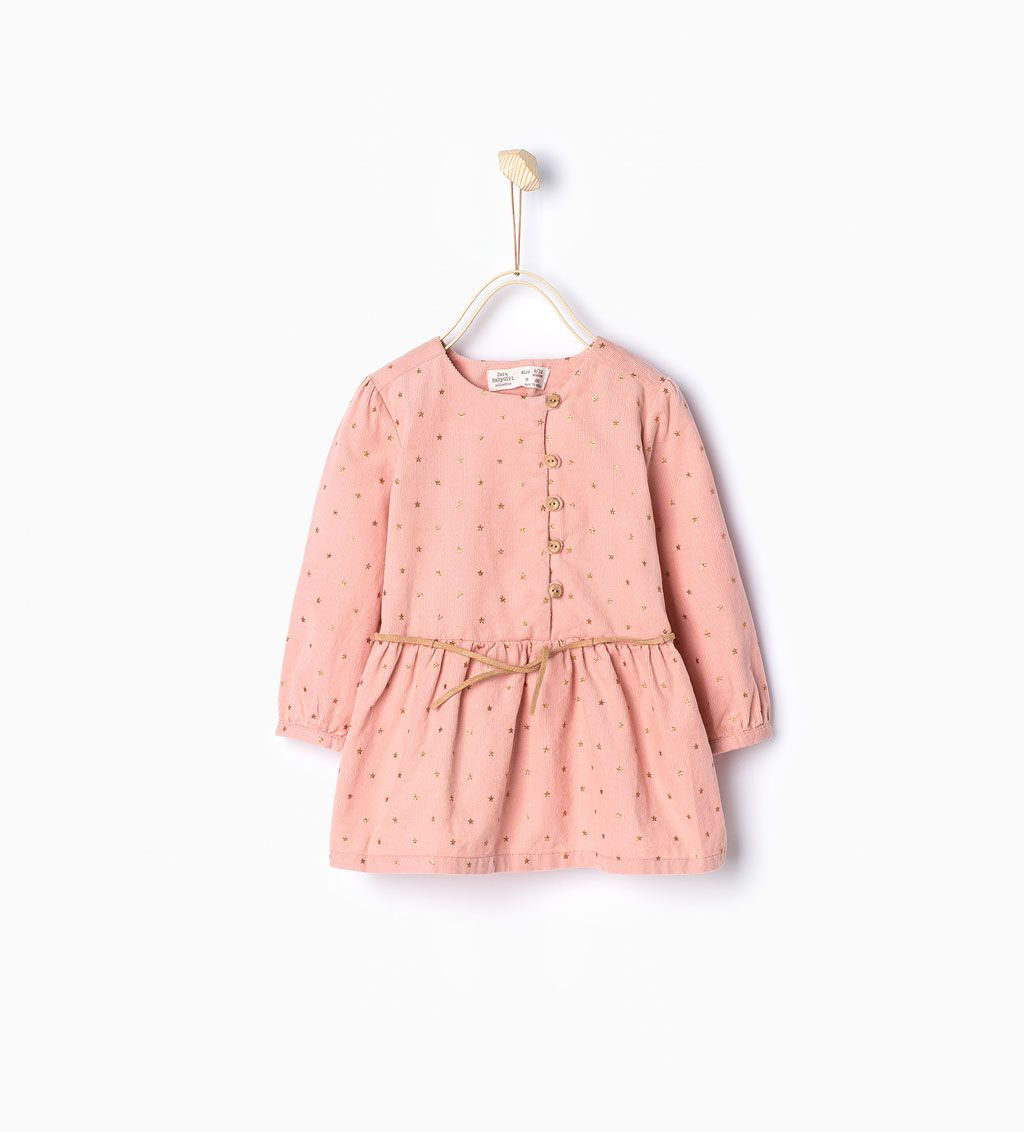 dcac1f7a6b1 ZARA - ΠΑΙΔΙΚΑ - Κοτλέ φόρεμα με αστέρια   Bebes   Winter baby ...
