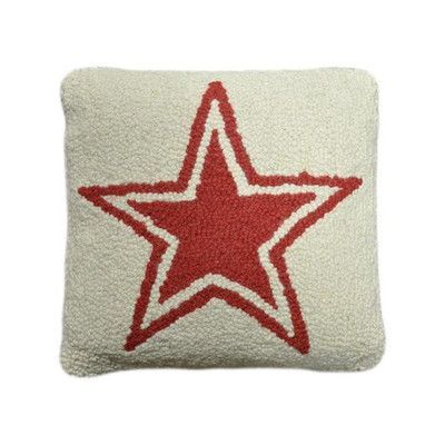 Amity Home Star Decorative Wool Throw Pillow Color: Ivory