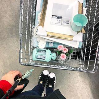 Bem fácil descobrir qual é o meu carrinho de compras na IKEA, né? Amo muito essa cor! 😍